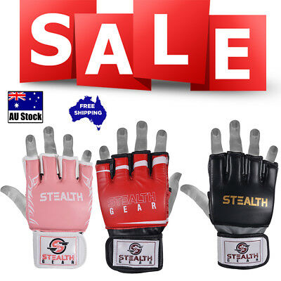 Mma Ufc Grappling Half-Finger Gloves Cage Fighting Training Open Thumb
