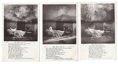 RELIGION The Holy City, Set of 3x Rotary Song Card Postcards