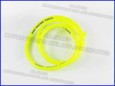 Fuel pipe, carb overflow pipe, Yellow fuel line, 5mm internal diameter