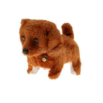 The Walking Barking Tail Wagging Lovely Electric Puppy Dog Pet Toy-Brown