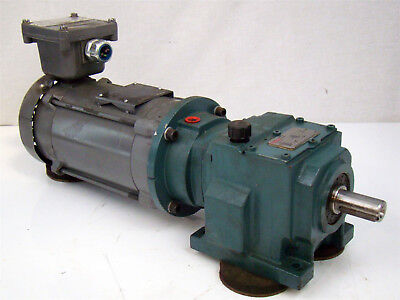 1/2HP Gear Motor 208-230/460v Dodge Quantis speed reducer 9.7:1 750Rpm HB3820N56
