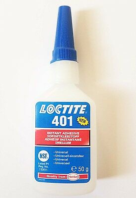Loctite 401 x 50g For Bonding Rubber & Plastics Genuine EU Style (Improved 406)