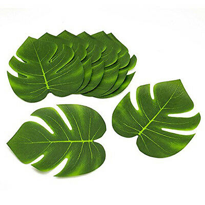 Polyester Tropical Green Leaves Hawaiian Luau Moana Party Table Decorations Bulk