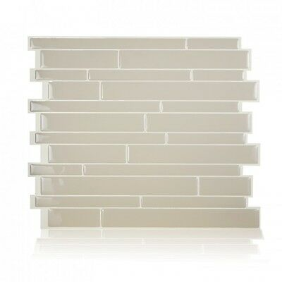 Smart Tiles SM1084-6 SELF-ADHESIVE WALL TILES 6/SHEET MILANO CREMA PEEL N STICK