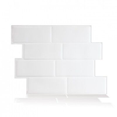 Smart Tiles SM1089-6 SELF-ADHESIVE WALL TILES 6/SHEET METRO BLANCO PEEL N STICK