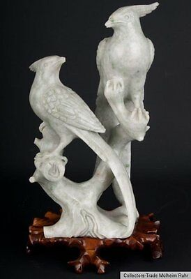 China 20. Jh. Vogelgruppe A Chinese carved Hardstone Bird Group - Cinese Chinois