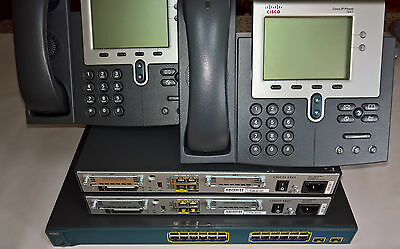Cisco Ccna  Lab Ccnp  2X 1841 V06 Routers 2X  Ip Phones 1X3560-24Ps-S L3 Switch