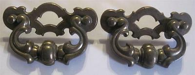 Set of 2 Antique/Vintage Brass Drawer Pulls/Handles CHUNKY STYLE   #45