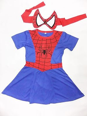 Spider Girl Skirts Costume Dress up Cosplay 3-10yrs