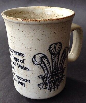 Royal Wedding 1981 Diana & Charles British Monarchy Commemorative Stoneware Mug