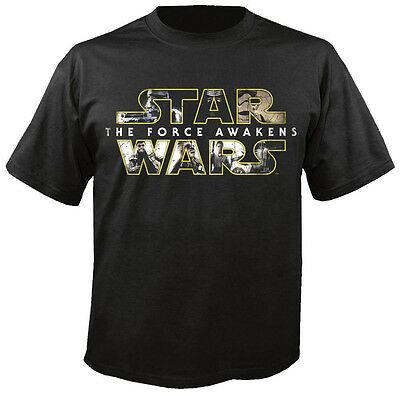 STAR WARS - Characters Logo - Episode 7 - The Force Awakens - T-Shirt