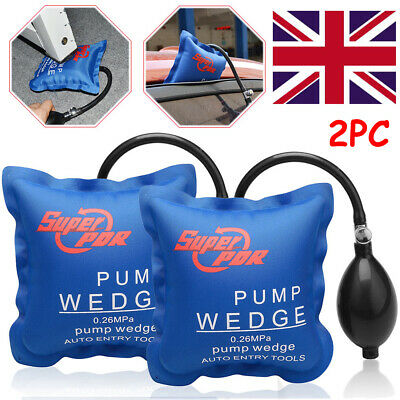 2pc PDR  Inflatable Hand Tool Automotiv Air Pump Wedge Auto Entry F Door Window