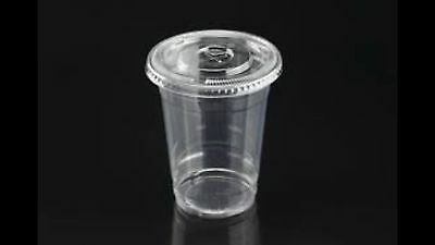 500 PC Plastic cups Cold cups and flat lids 12 OZ , 250 cups + 250lids
