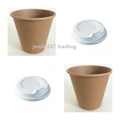 100 pieces 8 oz 250 ml disposable paper cups, coffee cups, hot cups and lids