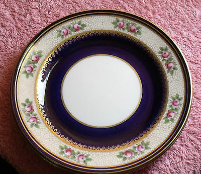Vintage Aynsley Cobalt Blue Side Plates X 3