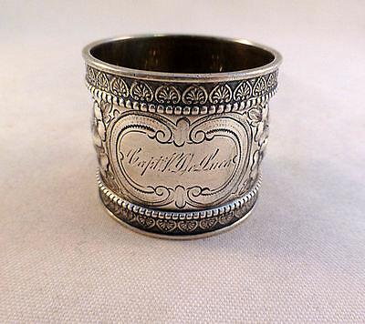 Great Wood & Hughes Sterling Napkin Ring-Heavy