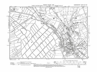 Soham, old map Cambridgeshire 1903: 30SE repro