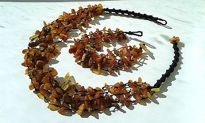 Set handmade from 100% natural Baltic amber necklace and bracelet