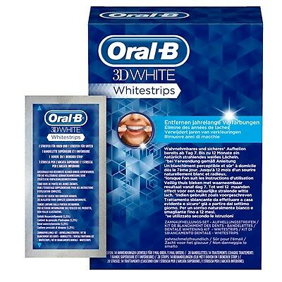 ORAL-B(CREST3D) Teeth Whitening 14 Strips (7 sachets) PROFESSIONAL QUALITY