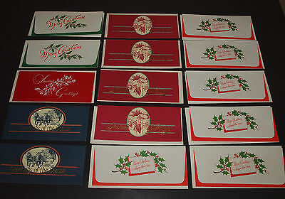 Vintage Christmas Cards Lot of 15 MONEY HOLDERS