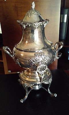 Reed & Barton King Francis Silverplate Holloware Coffee Urn 36 Cup