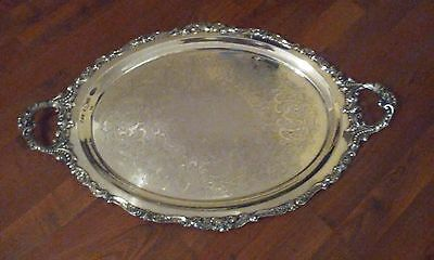 Wallace Baroque Waiter Tray silverplate serving platter - LARGE