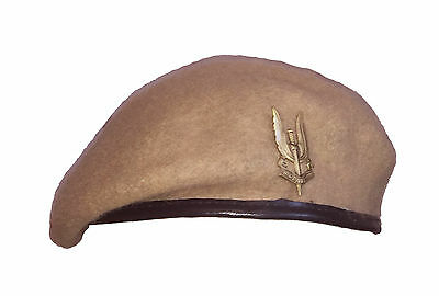 Reproduction SAS Special Air Service Sand Beret + Metal Cap Badge - All Sizes