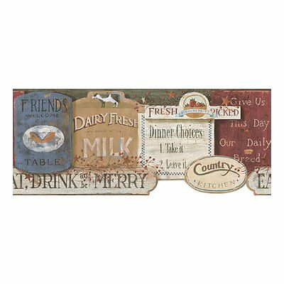 Welcome Home Country Kitchen Sign Wallpaper Border YC3399BD