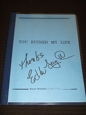 RARE 1986 You Ruined My Life Disney Movie Script Soleil Moon Frye SIGNED FOY III