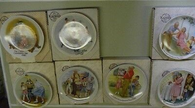 Vintage CSATARI GRANDPARENT PLATES by Knowles, New in Box with COA, Lot of 7