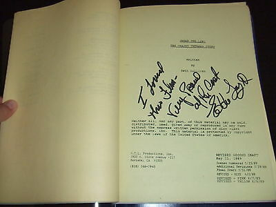 RARE 1989 Tracey Thurman Story NBC TV Movie Script Nancy McKeon SIGNED FOY III