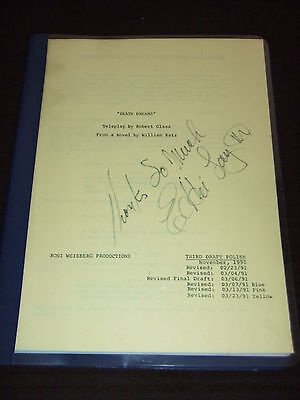 RARE 1991 Death Dreams ABC TV Movie Script Christopher Reeve Clark DC SIGNED FOY