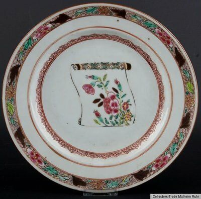 China 18. Jh. Teller -A Chinese Famille Rose Plate Qing - Piatto Cinese Chinois