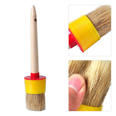50mm Wooden Handle Round Oil Wax Watercolor Paint Bristle Chalk Brush Artist
