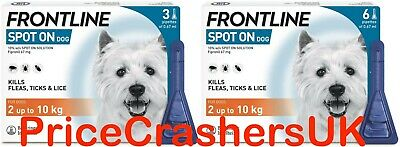 Frontline Spot On for Small Dogs 2-10kg 1,3 or 6 Pipettes Flea Infestion AVM-GSL