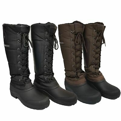HKM Siberia Equestrian Ladies Mens Waterproof Durable Riding Winter Thermo Boots