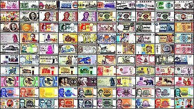 100 Different Types World Notes Lot, Paper Money, HYPERINFLATION Notes, Currency