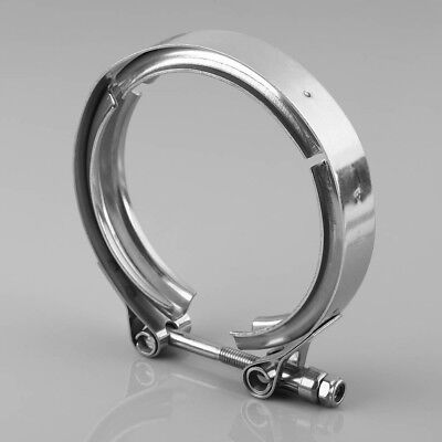 """Universal 3"""" Inch Stainless Steel V-Band Turbo Downpipe Exhaust Clamp Vband"""