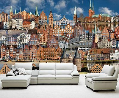 Lubeck Germany City Home Full Wall Mural Photo Wallpaper Print Home 3D Decal