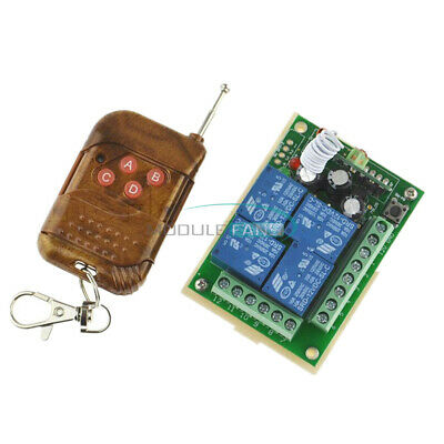 10A relay DC12V 4 Channel Wireless RF Remote Control Switch Transmitter Receiver