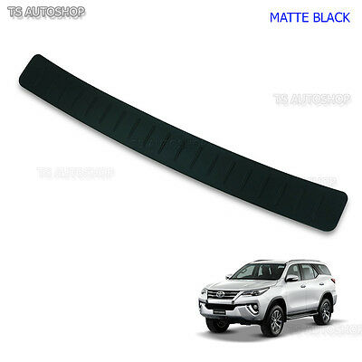 Matte Blk Rear Tailgate Bumper Guard Cover Fits Toyota Fortuner 4x4 Suv 2015 17