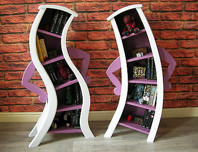 Bendy / Curvy Character Pair of Bookcases Shelving Fairytale Disney Inspired