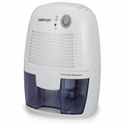 Ivation DehumMini Powerful Small-Size Thermo-Electric Dehumidifier - Quietly Gat