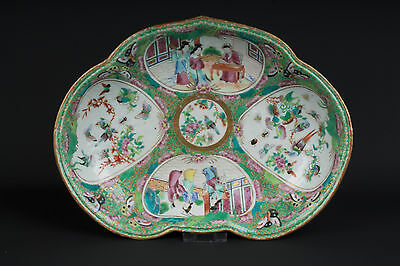China 19. Jh. Qing Schale - A Chinese Canton Porcelain Dessert Dish - Chinois