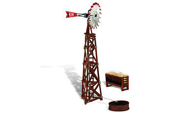 Windmill & Trough for Model Trains N SCALE Layout - Woodland ***Layout ready***