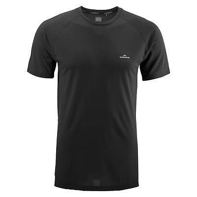 Kathmandu driMOTION Mens Short Sleeve Tee Active Running Sports T-Shirt Black