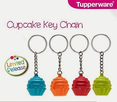 1 Set (4 Pcs) Tupperware Keychain Keyring Original Tupperware for Accesories