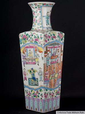 China 20. Jh. Bodenvase -A Large Chinese Famille Rose Vase - Chinois Vaso Cinese