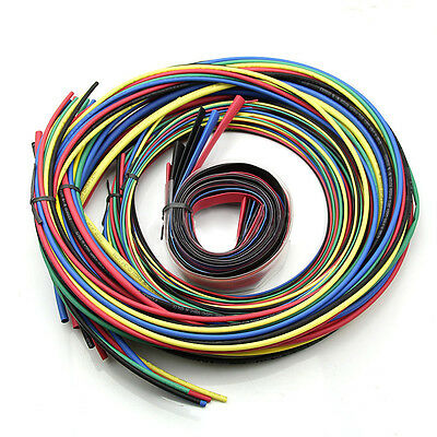 55M/Set Heat Shrink Tubing 11 sizes 6 Colours Tube Sleeving Wire Cable Wrap