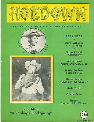 Vintage Hoedown Magazine ~ Nov. 1953 ~ Hillbilly and Western Stars